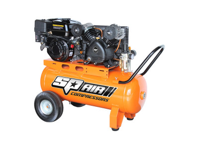 6.5Hp Petrol Driven Cast Iron V-Twin Air Compressor