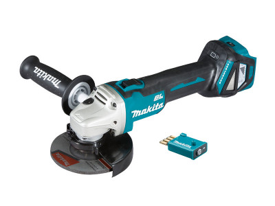 Makita 18V Brushless AWS 125mm Slide Switch Angle Grinder - DGA512ZU