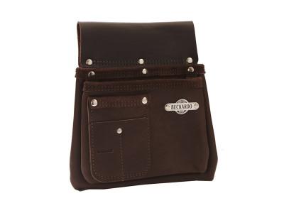Buckaroo 2 Pocket Nail Bag - Brown