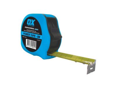 OX Professional Duragrip Metric Tape Measure 8M