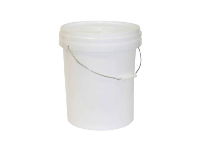 Queen Plastic Bucket With Lid White 20L