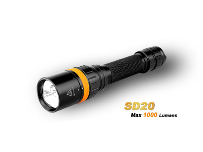Fenix SD20 - 1000 Lumens Diving LED Torch