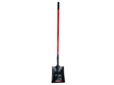 County Fibreglass Square Mouth Shovel Small Long Handle