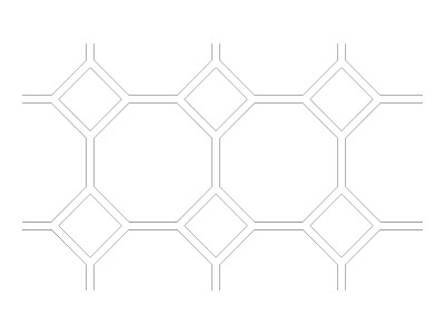"Stencil Pattern - 10"" Diamond Tile"