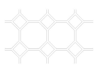 """Stencil Pattern - 10"""" Diamond Tile"""