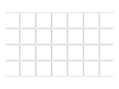"""Stencil Pattern - 8"""" Quarry Tile"""
