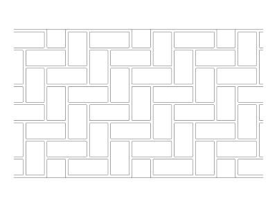 Stencil Pattern - Classic Herringbone