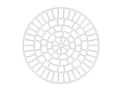 Stencil Pattern - Cobble Rosette