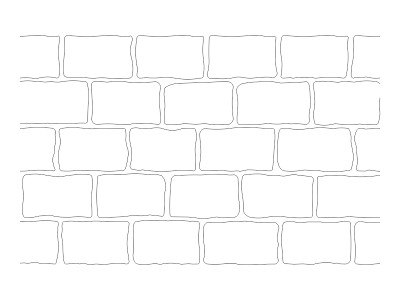 Stencil Pattern - Rustic Brick