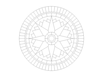 Stencil Pattern - Star Compass