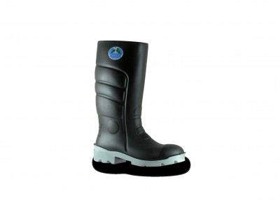 Bata Worklite - Black/Grey Gumboots