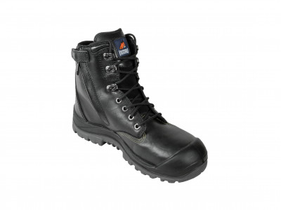 Black High Ankle ZipSider Boot - R Series