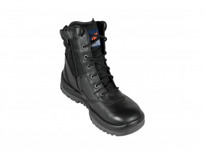 Black High Leg ZipSider Boot - P Series