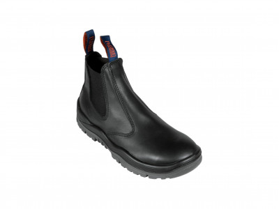 Black Kip Elastic Sided Boot - P Series