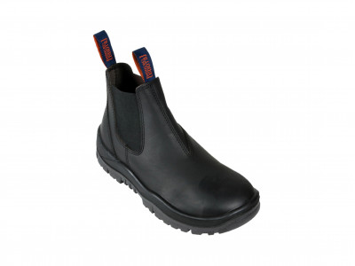 Black Kip Elastic Sided Boot - SE Series