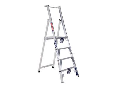 Premium Platform Step Ladders - Aluminium