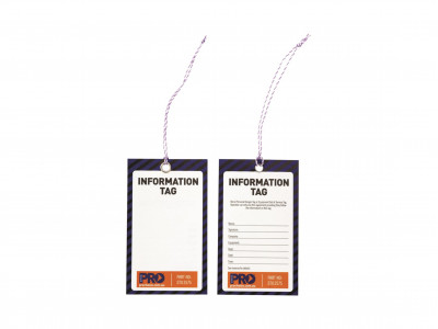 ProChoice Safety Tag -125mm x 75mm Info (Blank)