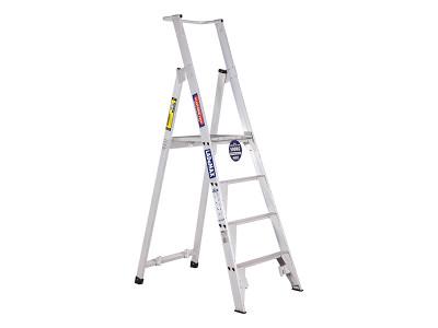 Standard Platform Step Ladders - Aluminium