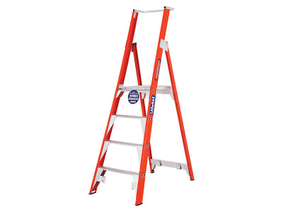 Standard Platform Step Ladders - Fibreglass