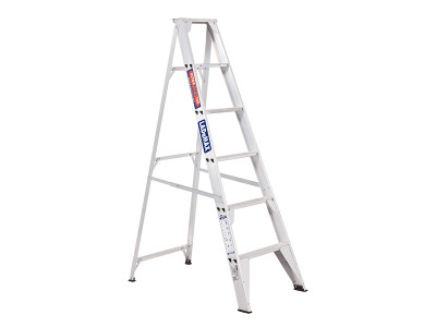 Step Ladders Single Sided - Aluminium