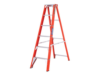 Step Ladders Single Sided - Fibreglass