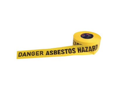 ProChoice Barricade Tape DANGER ASBESTOS DUST HAZARD Print  - 300m x 75mm