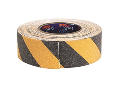 ProChoice Self Adhesive Non Slip Hazard Tape Yellow & Black - 18m x 50mm